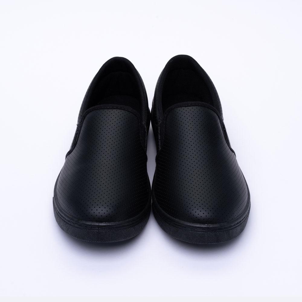 ARRIBA艾樂跑女鞋-皮質懶人鞋 便鞋-黑/白(AB8075) product image 1