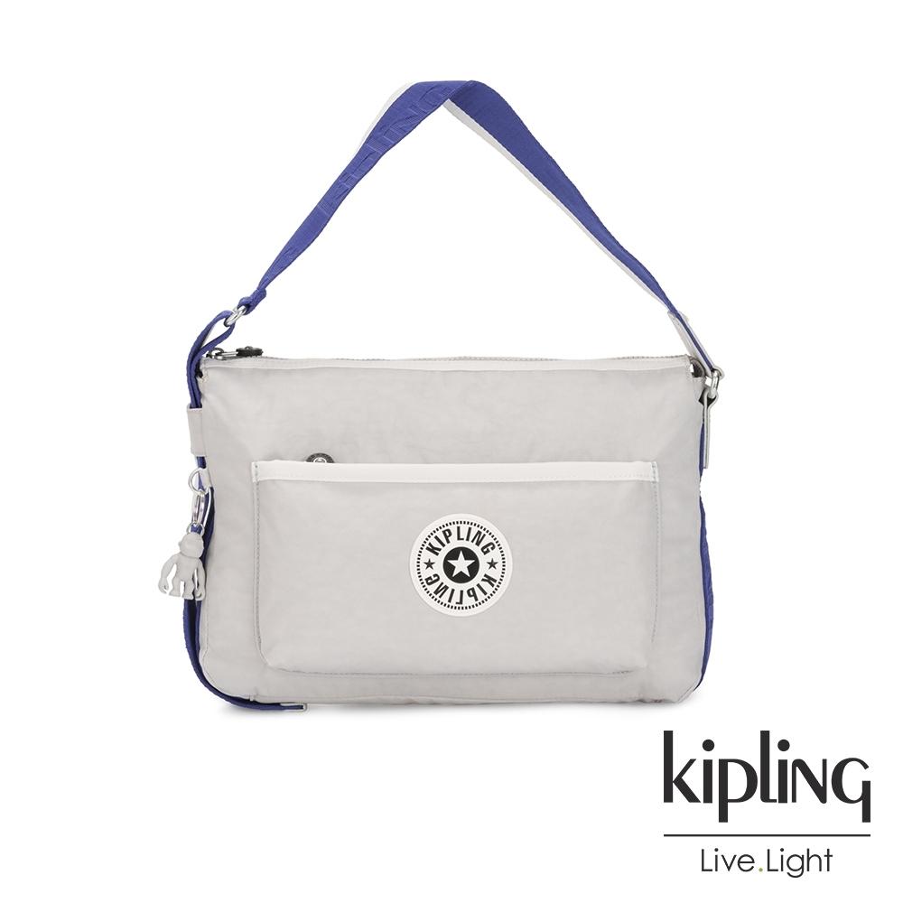 Kipling 都會時尚象牙白簡約隨身肩背包-ERNA
