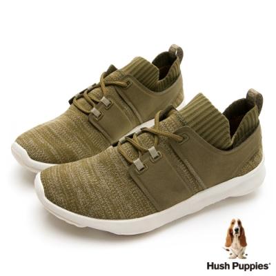 Hush Puppies  Bounce Max 高效彈力休閒男鞋-墨綠