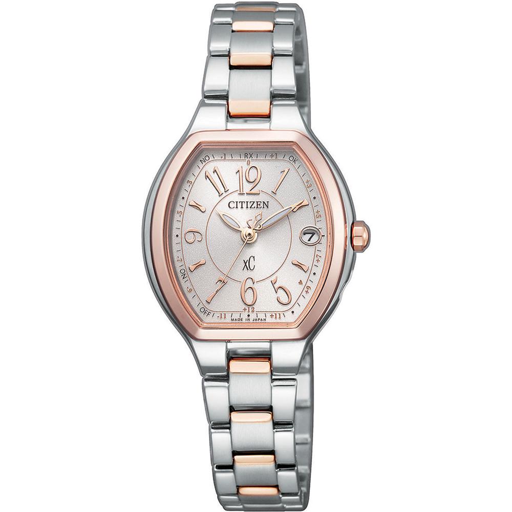 CITIZEN 星辰 xC 時尚光動能限定腕錶-雙粉(ES9364-57A)