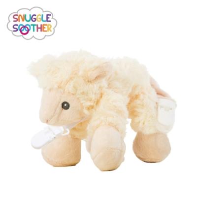 【Snuggle史納哥】安撫絨毛玩偶娃娃奶嘴夾-小綿羊