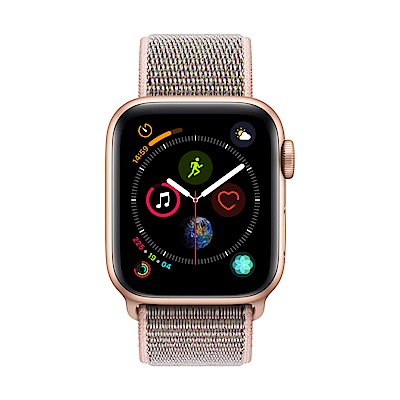 Apple Watch Series 4(GPS) 40mm金色鋁金屬錶殼搭配粉沙色錶環
