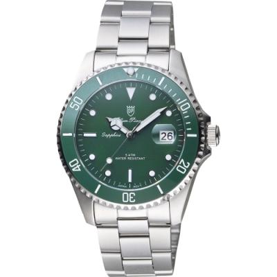 Olym Pianus 陶瓷錶圈日期手錶-綠/39mm(899831.2MS)