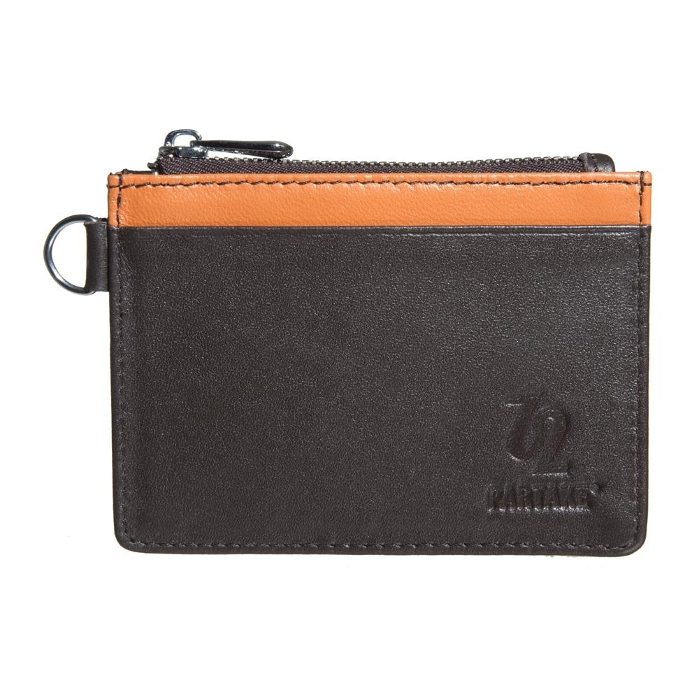【PARTAKE】真皮票卡夾零錢包-橘 PT18-12OG