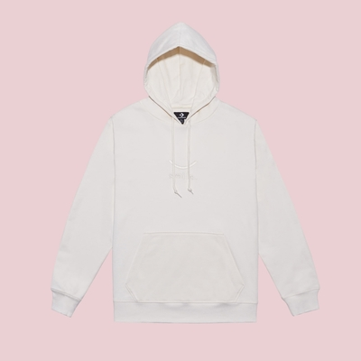CONVERSE JACK PURCELL SMILE PULLOVER HOODIE 連帽TEE 男款 女款 白色 10023090-A02