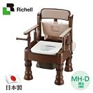日本利其爾Richell 可擕式舒適暖房便座MH-D型-深咖啡