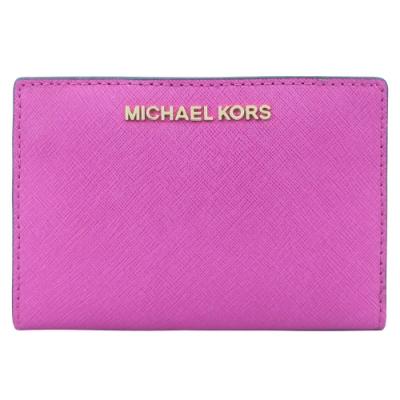MICHAEL KORS JET SET防刮卡片零錢夾(附名片夾)-紫紅