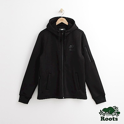 Roots 男裝-羅根邦迪連帽外套-黑色