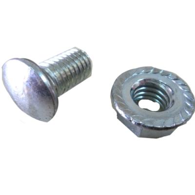SS001 魚尾螺絲 鍍鋅高張力螺絲 角鋼螺絲馬車螺絲 1/2*1英寸 (100支/包)