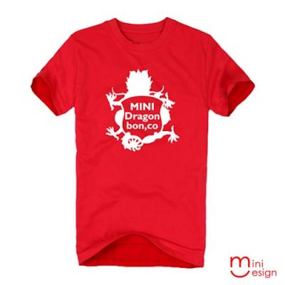 (男款)MINI Dragon盾牌龍潮流設計短T 三色-Minidesign