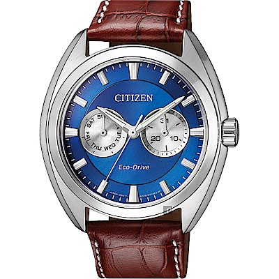 CITIZEN Eco-Drive光動能日曆手錶(BU4011-11L)-藍/ 43mm