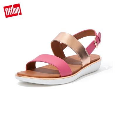 FitFlop BARRA METALLIC MIX BACK STRAP SANDALS-可調整後帶涼鞋女(深粉色)