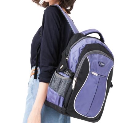 CHENSON 寬背帶系列 不勒肩膀後背包U型 紫(CG20511-3Q)