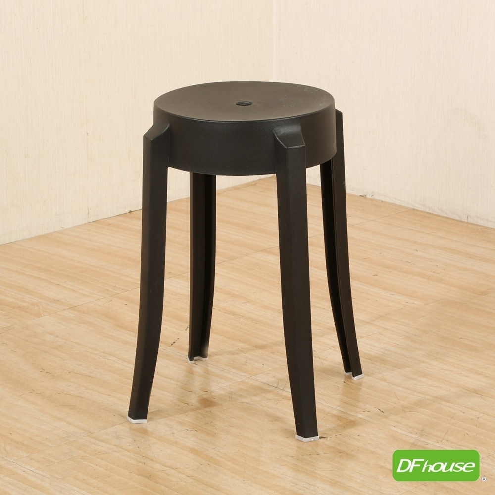 《DFhouse》艾許-時尚圓椅-黑色-31寬*深31*高46.5(cm)
