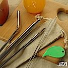 佶之屋 質樸#316不鏽鋼環保防刮舌ST吸管7件組