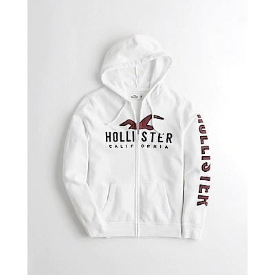 Hollister HCO 長袖 帽T  白色 0678