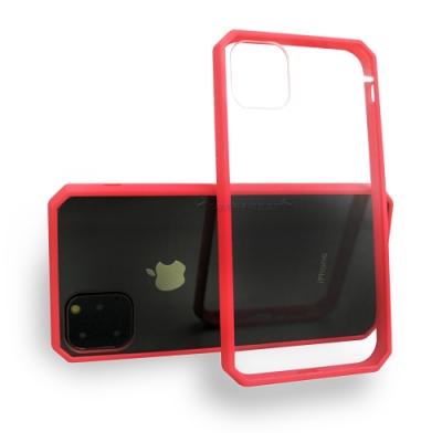 軍工級 iPhone 11 Pro 5.8吋 OCT軍規防摔殼 加厚邊框(桃花紅)