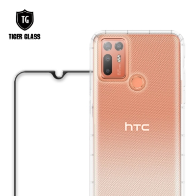 T.G HTC Desire 20+ 手機保護超值2件組(透明空壓殼+鋼化膜)