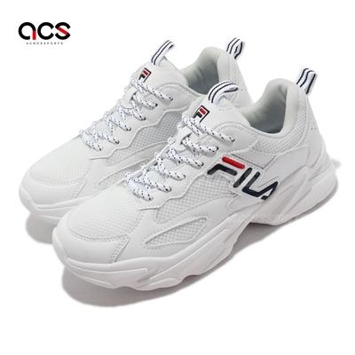 Fila 休閒鞋 Beats Tracer 2 女鞋 斐樂 緩震 柔軟 抗菌除臭 涼爽透氣 白 藍 5J526V125