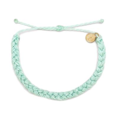 Pura Vida 美國手工 SEAFOAM BRAIDED 嫩綠色粗線編織手環
