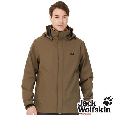 【Jack wolfskin 飛狼】男 Air Wolf 防風防水透氣外套 單件式『橄欖綠』