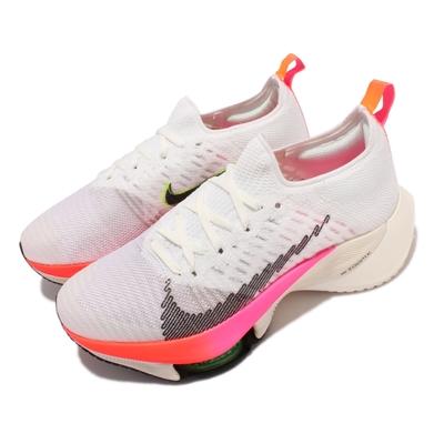 Nike Air Zoom Tempo Next  FK 女鞋 襪套 針織鞋面 氣墊 避震 路跑 東奧 白粉 DJ5431-100