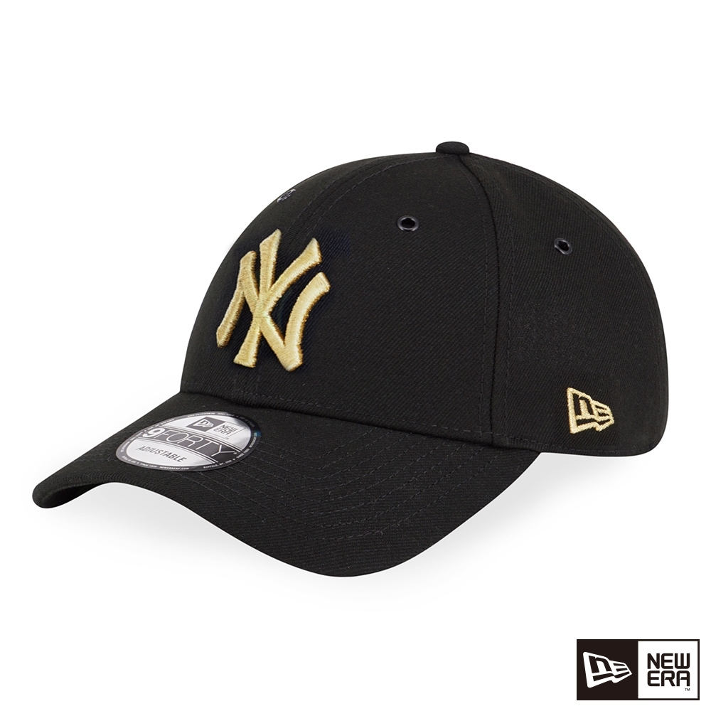NEW ERA 9FORTY 940 LOGO 洋基 黑/金 棒球帽