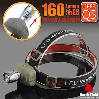 美國 North Field  浩克燈 160流明 廣角調焦魚眼LED頭燈