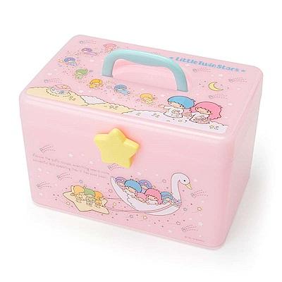 Sanrio 雙星仙子雙層式PP收納提箱/化妝提箱(粉彩小精靈)