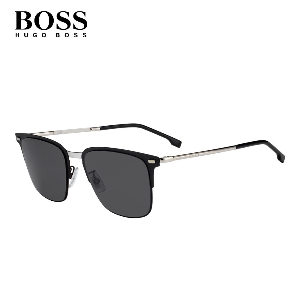 HUGO BOSS- BOSS 0951/F/S 經典方框紳士太陽眼鏡 黑色