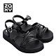 Zaxy LOOP系列造型涼鞋-黑 product thumbnail 1