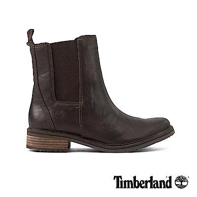 Timberland女款深咖啡色皮革Mont 休閒鞋|A1SBA