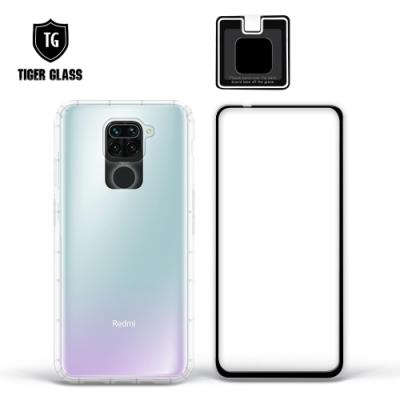 T.G MI 紅米 Note 9 手機保護超值3件組(透明空壓殼+鋼化膜+鏡頭貼)