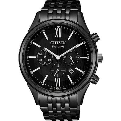 CITIZEN 星辰 亞洲限定光動能計時手錶-黑/42mm(CA4415-81E)