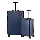 BENTLEY 28吋+20吋 PC+ABS 鋁合金拉桿尊榮硬殼行李箱 二件組-藍