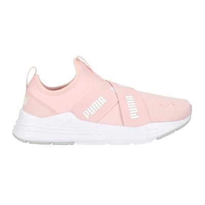 PUMA WIRED RUN SLIPON WMNS 女休閒鞋-慢跑 走路鞋 懶人鞋 38229903 粉紅白