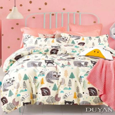 DUYAN竹漾 100%精梳純棉 單人三件式舖棉兩用被床包組-夢想樂園 台灣製