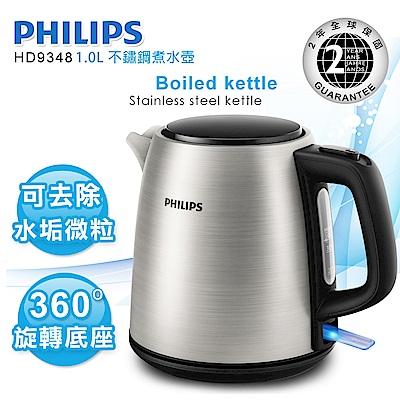[熱銷推薦]飛利浦 PHILIPS 1.0L 不鏽鋼煮水壺 HD9348