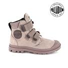 PALLADIUM PAMPA CUFF WP 黏扣皮革防水靴-女-玫瑰粉