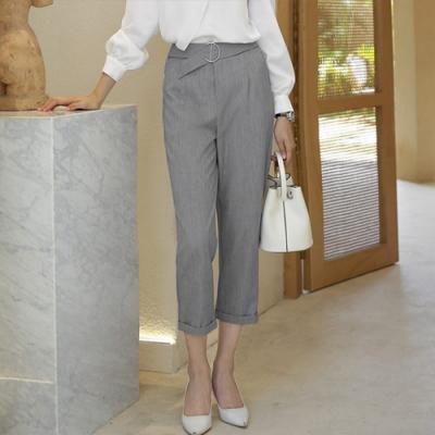設計所在Lady-休閒哈倫西裝直筒寬鬆九分褲(二色S-2XL可選)