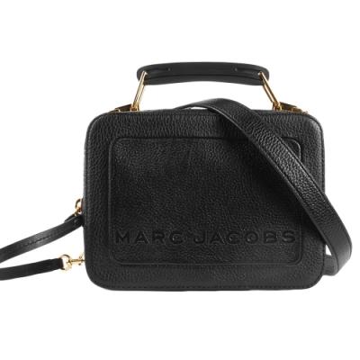 MARC JACOBS 經典THE BOX 20雙拉鍊手提斜背兩用包-小/黑色