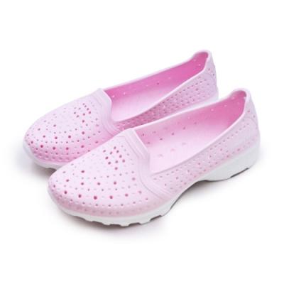 GOODYEAR 排水透氣輕量美型水陸多功能休閒洞洞鞋 粉紅 82822