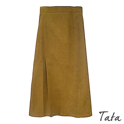 初秋後鬆緊前叉半身裙 共二色 TATA