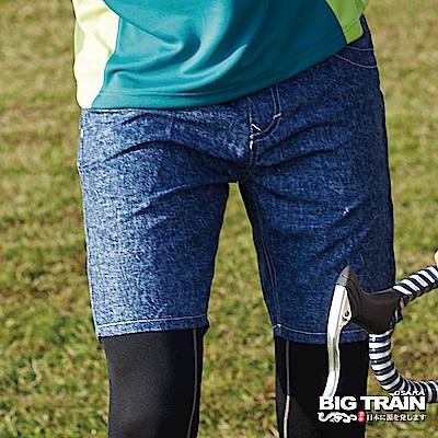 BIG TRAIN 加大款-全地域街頭短褲-男-藍牛仔
