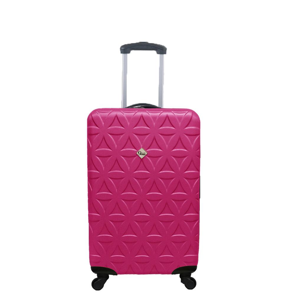 Gate9花花系列/20吋/ABS霧面輕硬殼旅行箱/行李箱-桃紅色