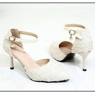 KEITH-WILL時尚鞋館 歐洲站摩登焦點高跟鞋-米色
