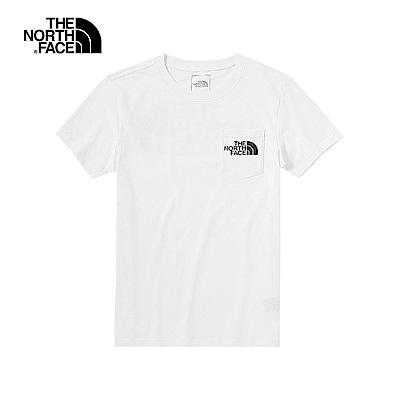 The North Face北面男款白色吸濕排汗短袖T恤 46J3FN4