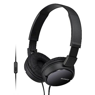 SONY 智慧型手機專用耳罩式耳機 MDR-ZX110AP黑色
