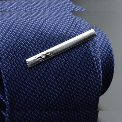 Laifuu拉福,領帶夾波浪襯衫夾領夾(附盒)