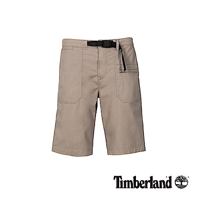 Timberland 男款象灰色彈力實用休閒短褲|A1WGY